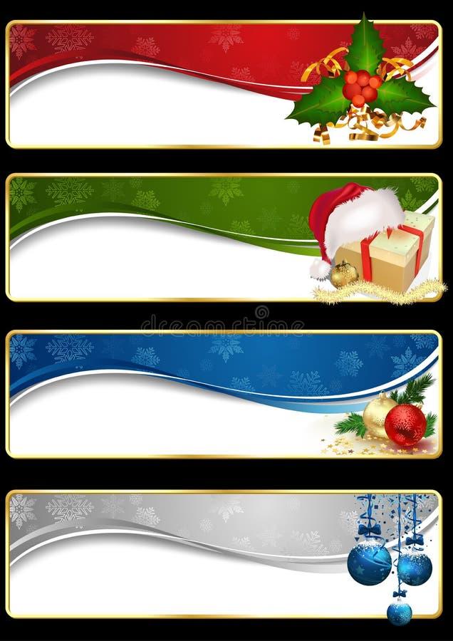 Grupo da bandeira do Web site do Natal ilustração stock