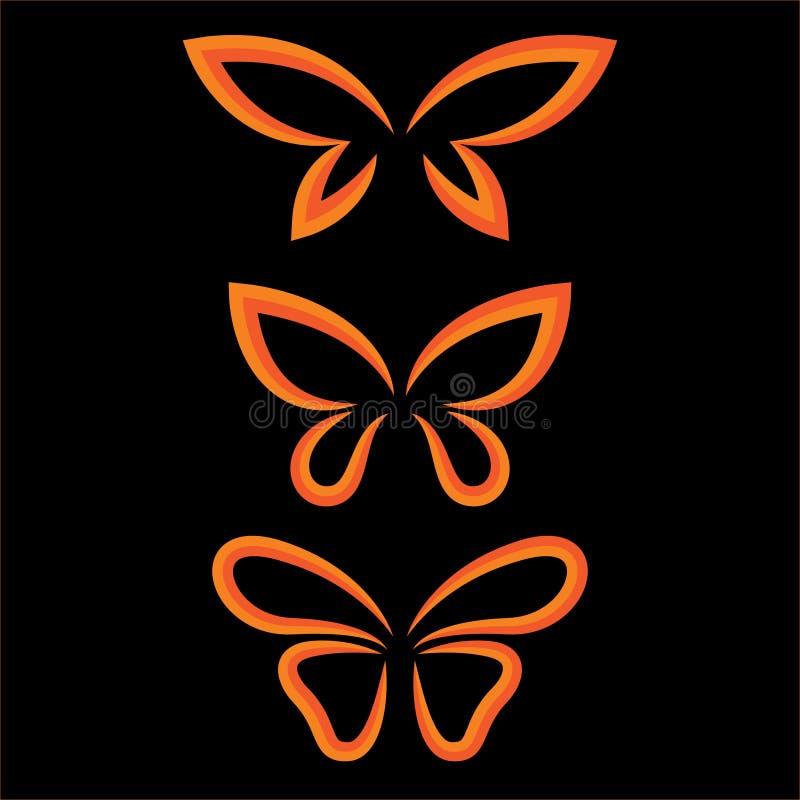 Grupo da borboleta das asas ilustração do vetor