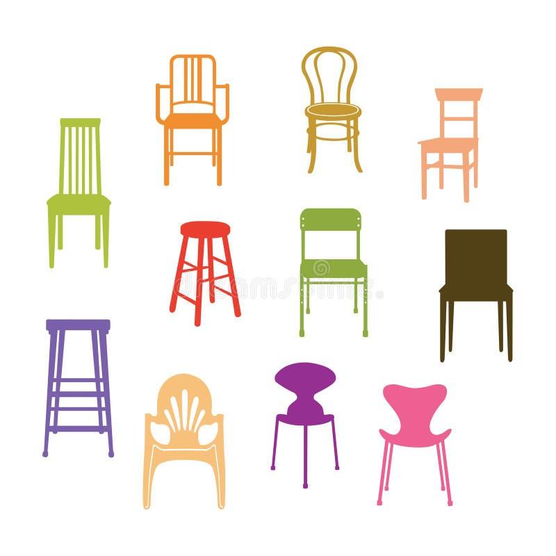 Grupo da cadeira ilustração royalty free