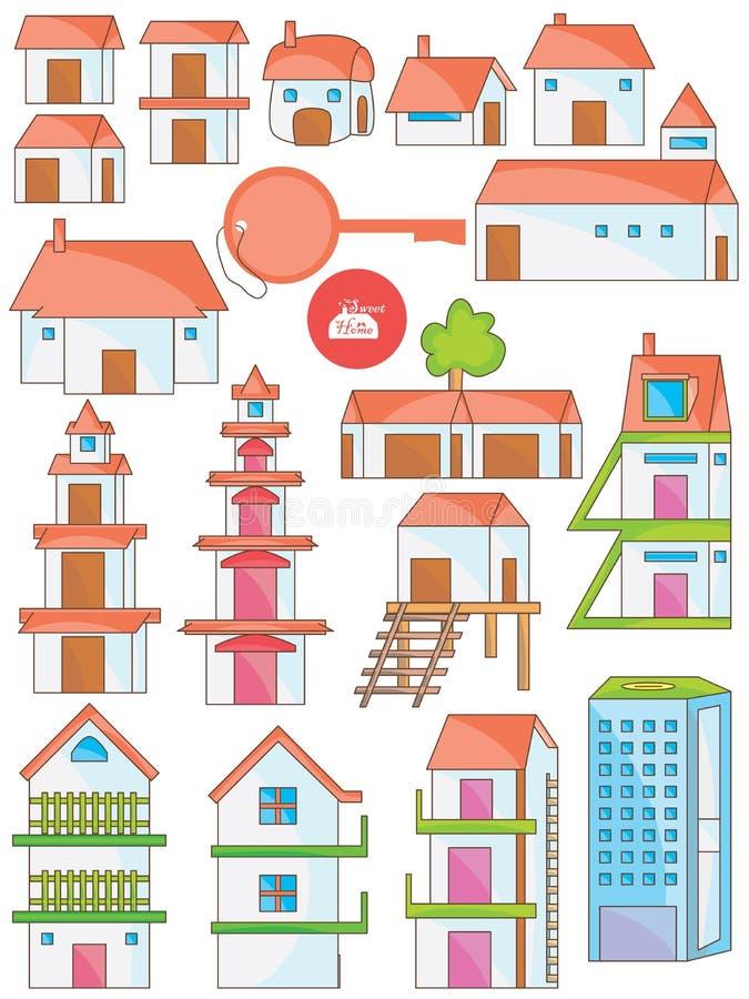 Grupo da casa ilustração royalty free