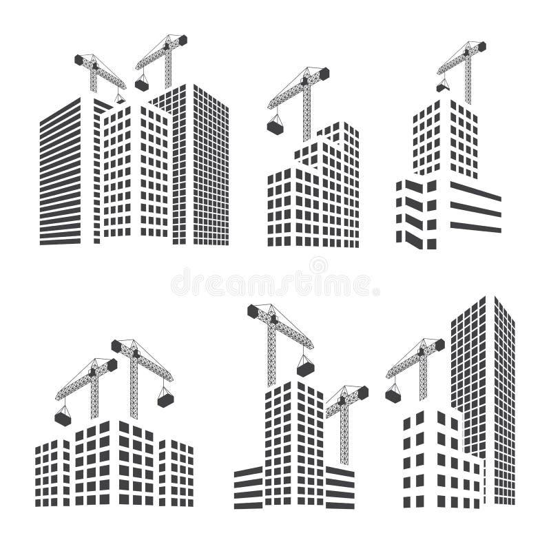 Grupo da construção de construções ilustração stock