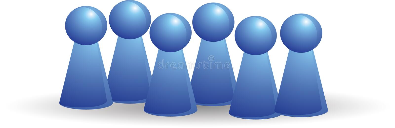 Grupo da cor no azul ilustração royalty free