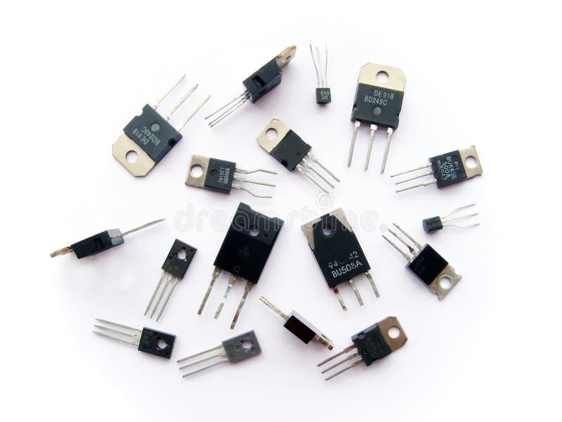 Grupo da eletrônica do semicondutor do transistor fotos de stock royalty free
