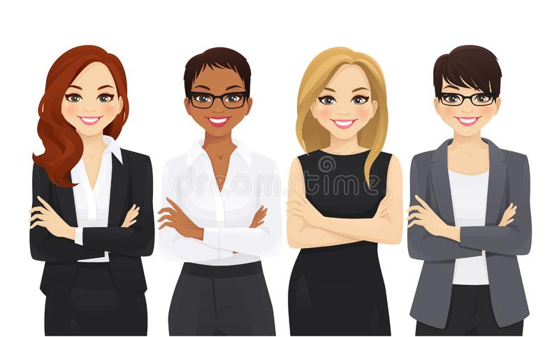 Grupo da equipe de mulher do negócio ilustração royalty free