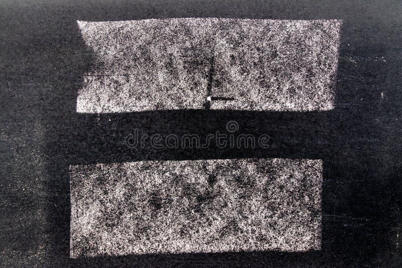 Grupo da escova branca da arte do giz do grunge na linha forma quadrada no fundo preto da placa Decora??o e elemento do projeto ilustração do vetor