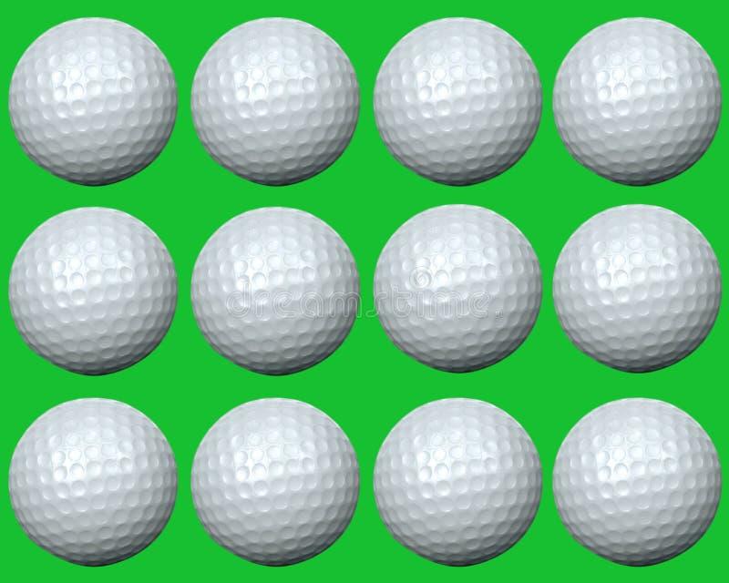 Grupo da esfera de golfe ilustração royalty free