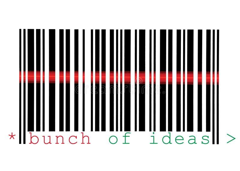 Grupo da exploração do macro do código de barras das idéias isolado fotos de stock royalty free