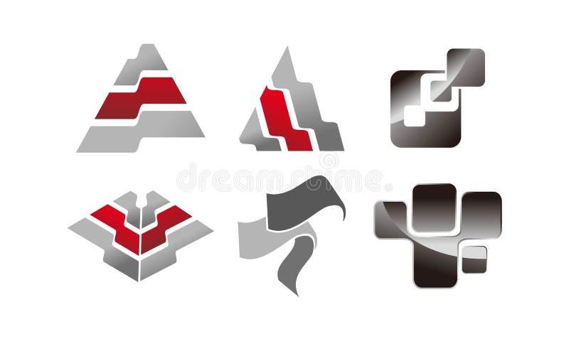 Grupo da fabricação da chapa metálica ilustração royalty free