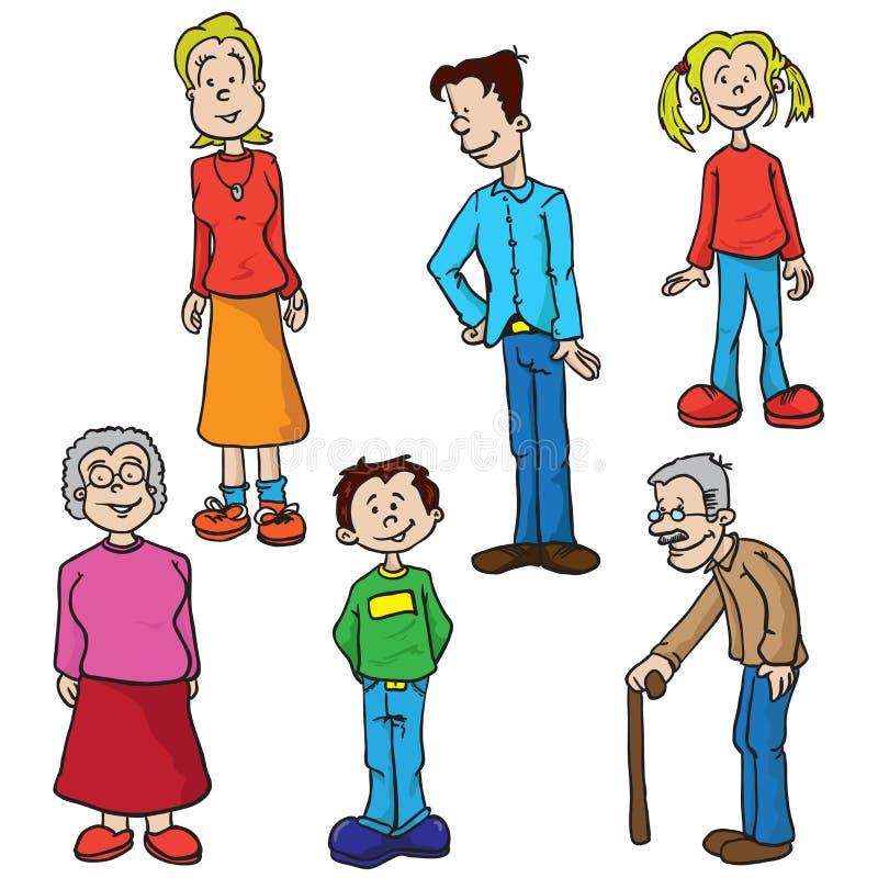 Grupo da família ilustração do vetor