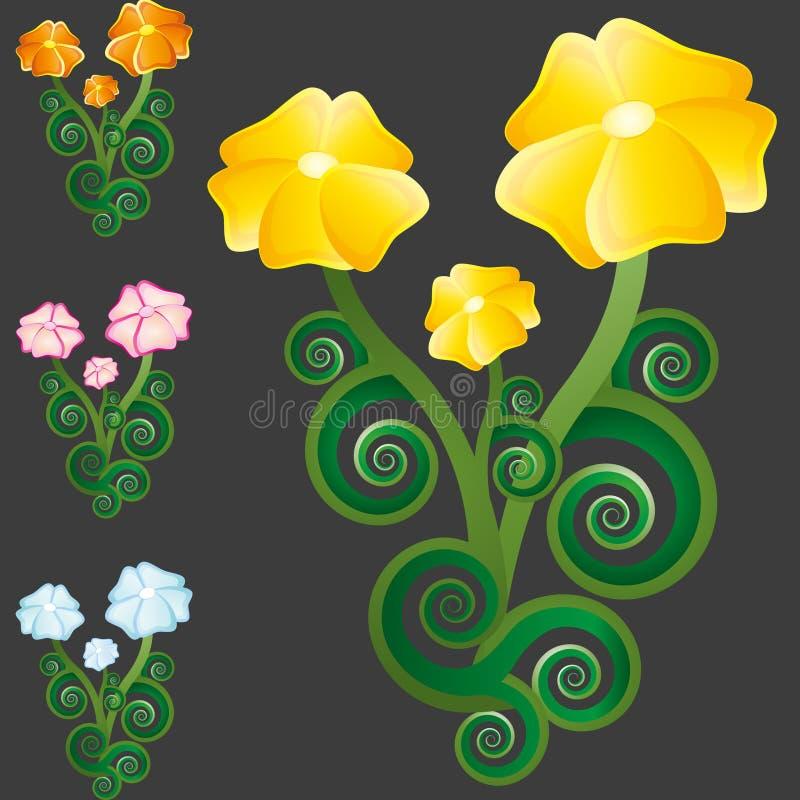 Grupo da flor das flores selvagens imagem de stock