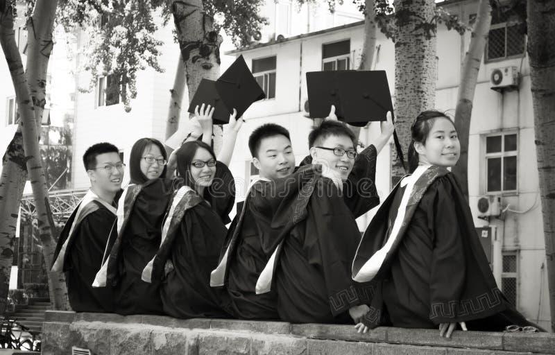 Grupo 2 da graduação imagens de stock royalty free