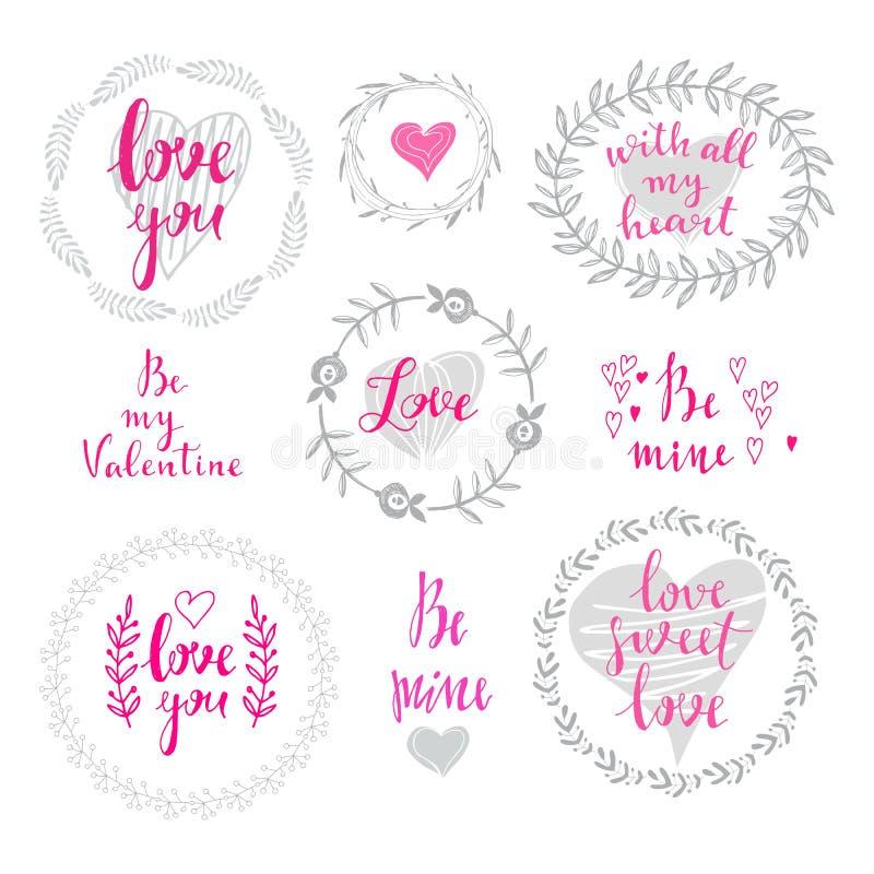 Grupo da grinalda love3 ilustração royalty free
