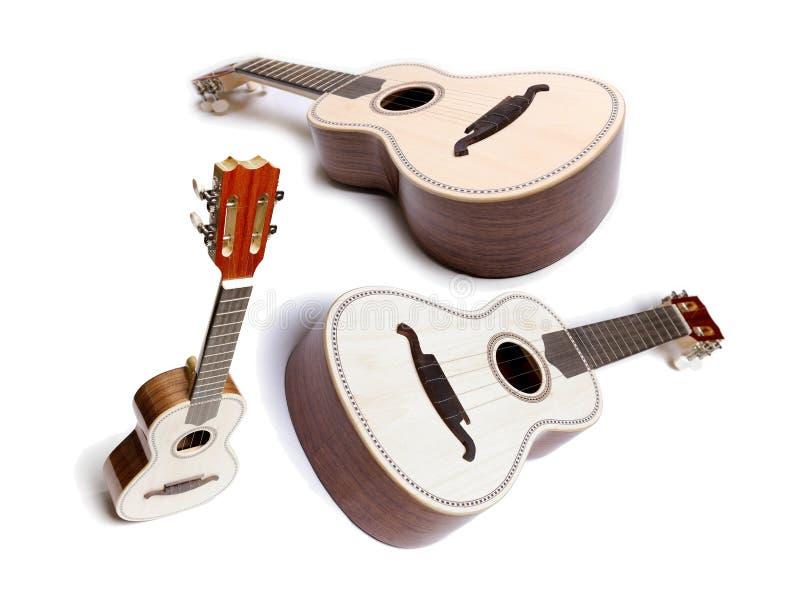 Grupo da guitarra ou do Ukelele foto de stock