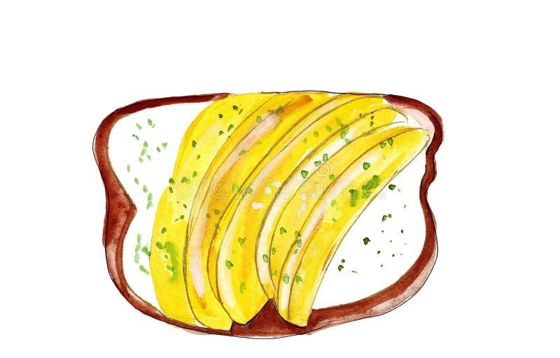 Grupo da ilustração de esboçar sanduíches com variedade de enchimentos, de composição diferente e de ingredientes ilustração stock