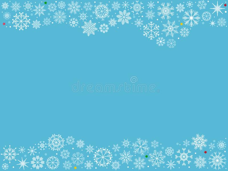 Grupo da ilustração do vetor de flocos de neve brancos tirados mão como Cristo ilustração stock