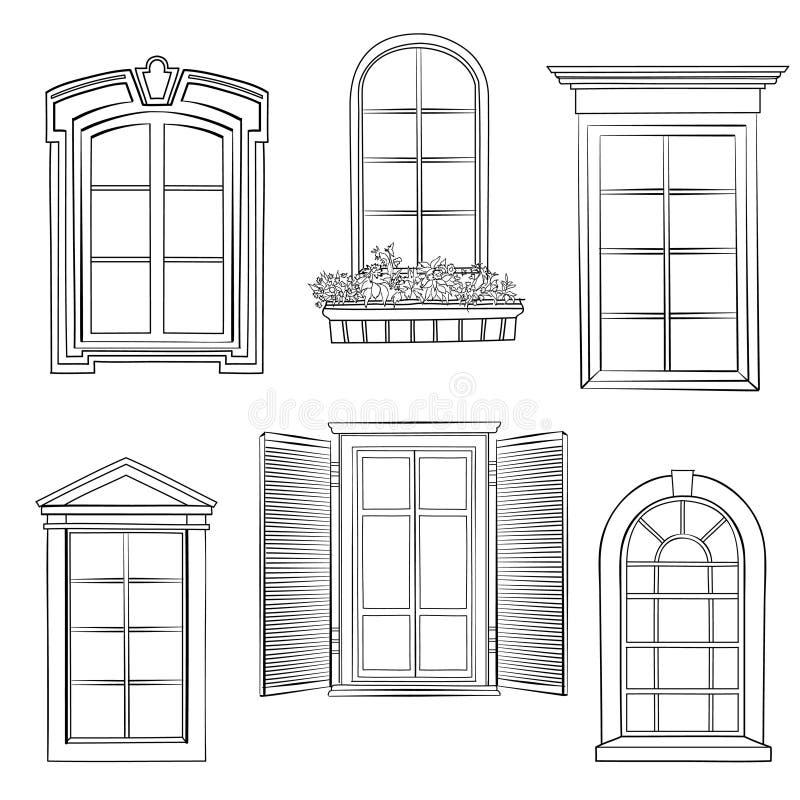 Grupo da janela ilustração do vetor