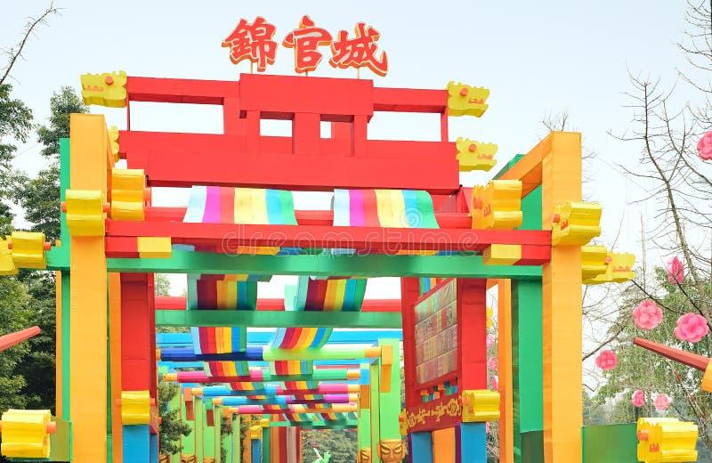 Grupo da lâmpada de Chengdu China-Jin Guancheng imagem de stock