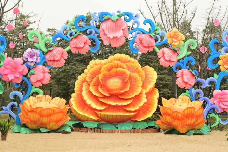 Grupo da lâmpada de flores do hibiscus foto de stock
