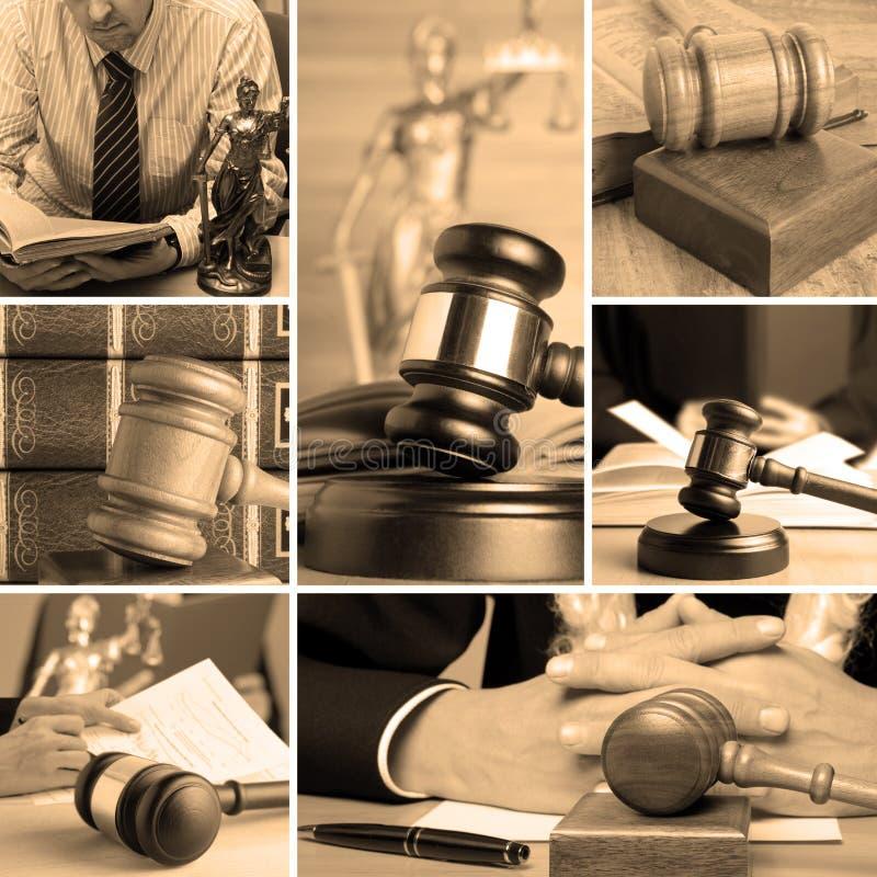Grupo da lei 5 fotos de stock royalty free