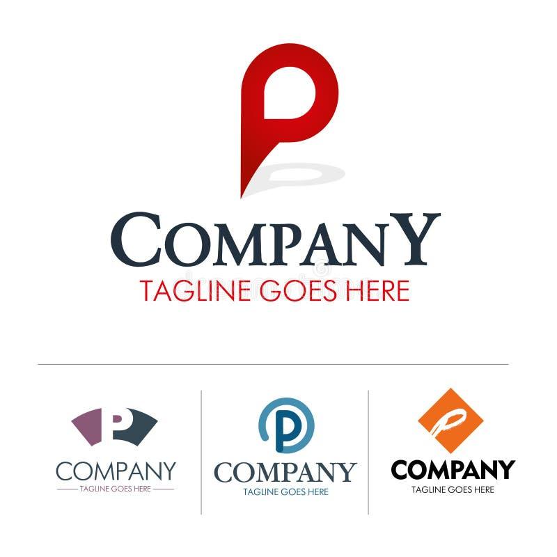 Grupo da letra P do logotipo ilustração stock