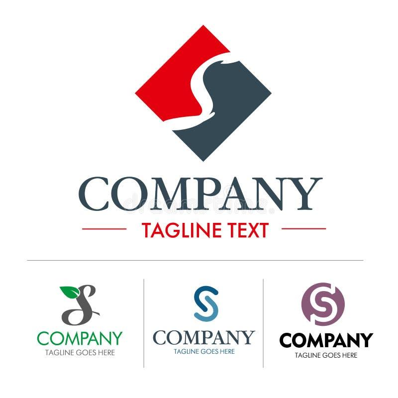 Grupo da letra S do logotipo ilustração stock