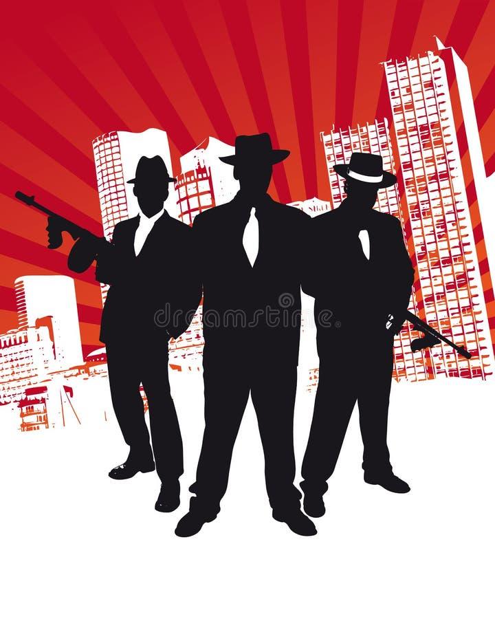 Grupo da máfia ilustração royalty free