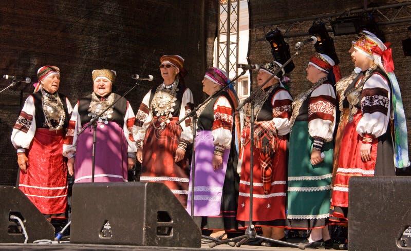 Grupo da música folk fotografia de stock