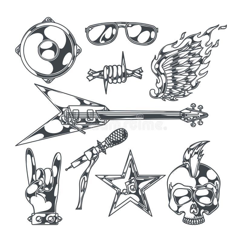 Grupo da música rock ilustração do vetor