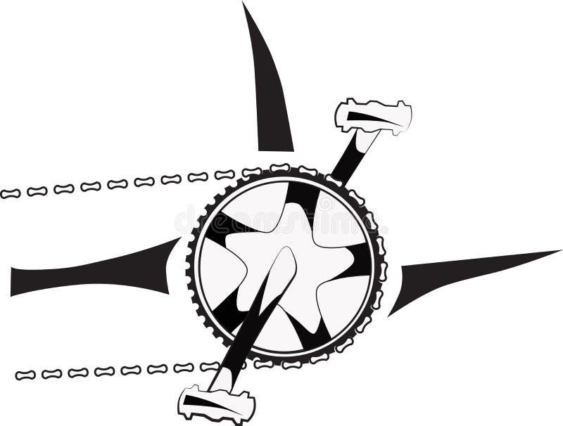 Grupo da manivela ilustração stock