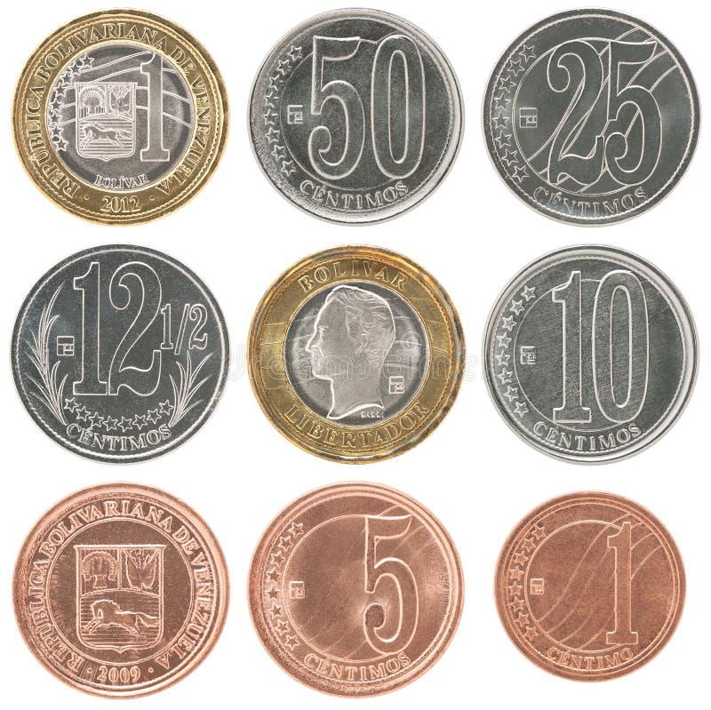 Grupo da moeda da Venezuela imagens de stock royalty free