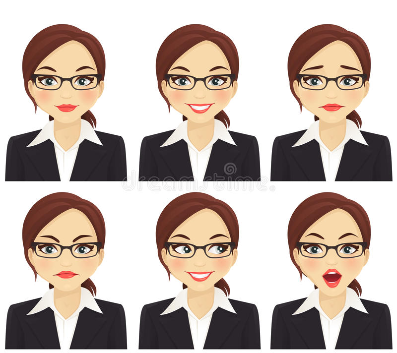 Grupo da mulher de negócio ilustração do vetor