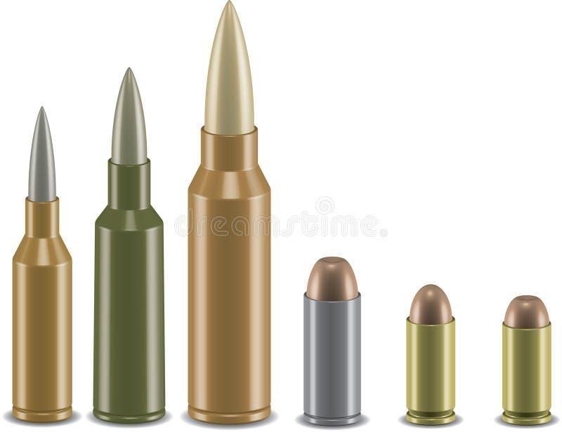 grupo da munição do vetor 3d ilustração royalty free