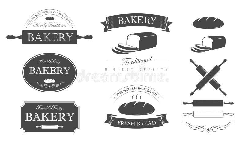 Grupo da padaria ilustração stock