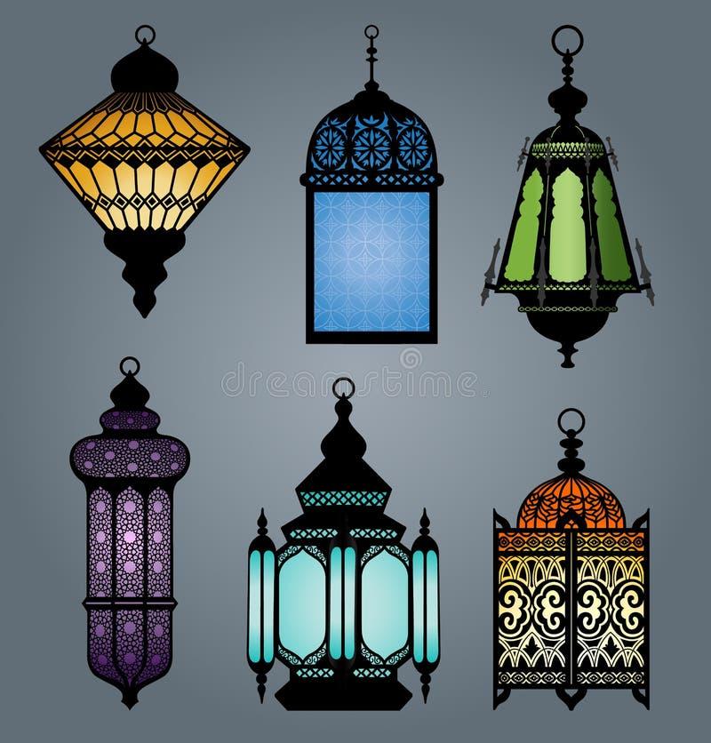 Grupo da parte árabe 2 da lanterna ilustração stock