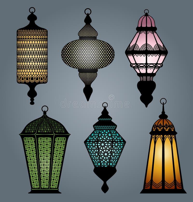 Grupo da parte árabe 1 da lanterna ilustração stock
