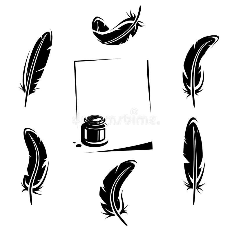 Grupo da pena. Vetor ilustração do vetor