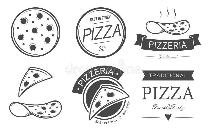 Grupo da pizza ilustração stock