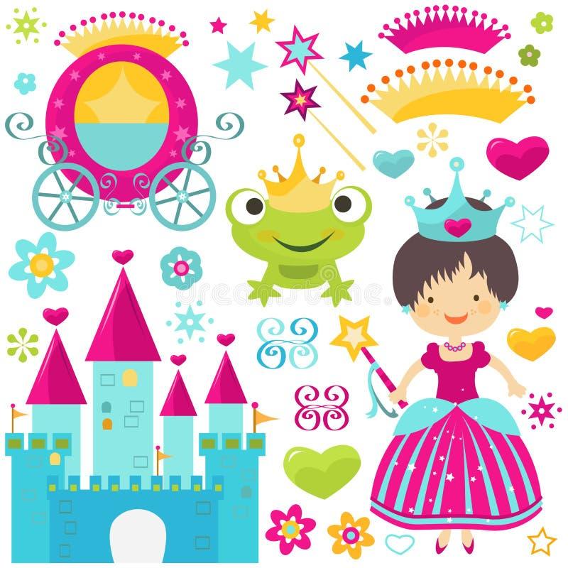Grupo da princesa ilustração do vetor