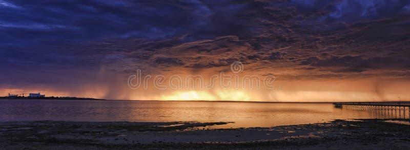 Grupo da tempestade da baía do SA Ceduna imagem de stock