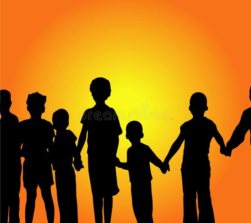 Grupo das crianças! ilustração stock