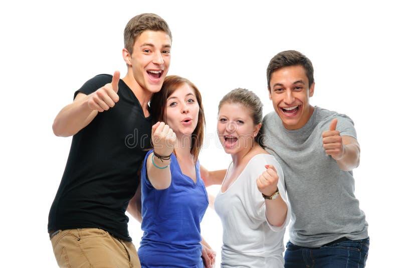 Grupo das estudantes universitário fotos de stock