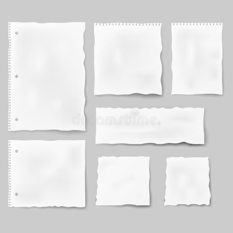 Grupo das formas diferentes de papel ilustração do vetor