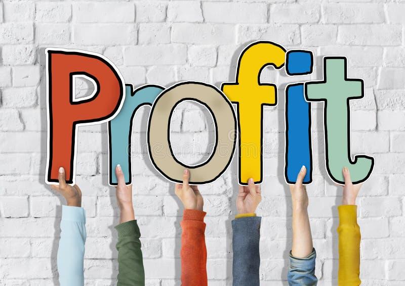 Grupo das mãos do pessoa diverso que guardam o lucro fotos de stock royalty free