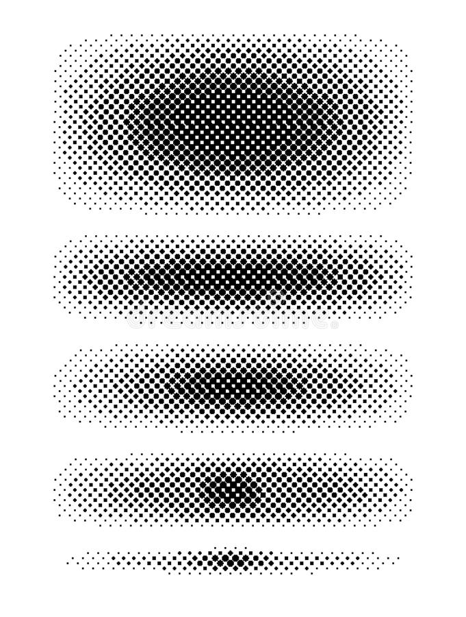 Grupo das tiras de intervalo mínimo ilustração stock