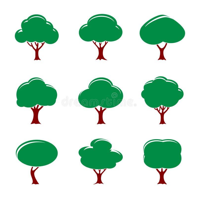 Download Grupo De árvores Da Cor Ilustração Do Vetor Ilustração Stock - Ilustração de beira, cumprimentos: 80102898