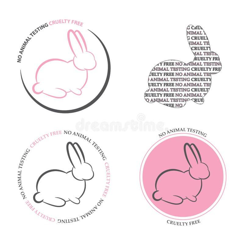 Grupo de 4' ícones do teste não animal ' ilustração stock
