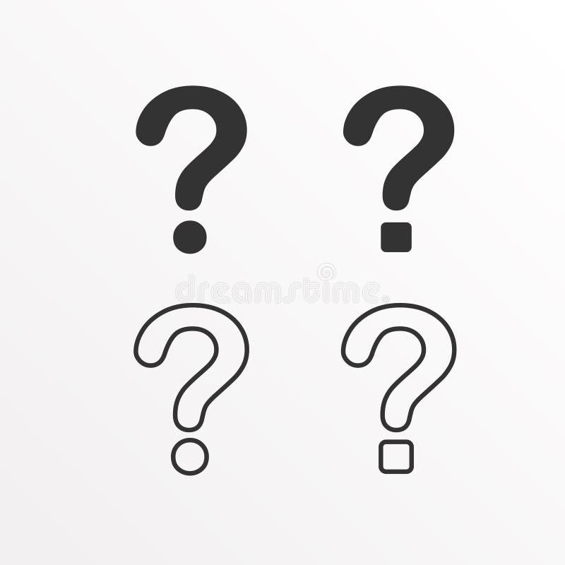 Grupo de ícone do ponto de interrogação ilustração royalty free