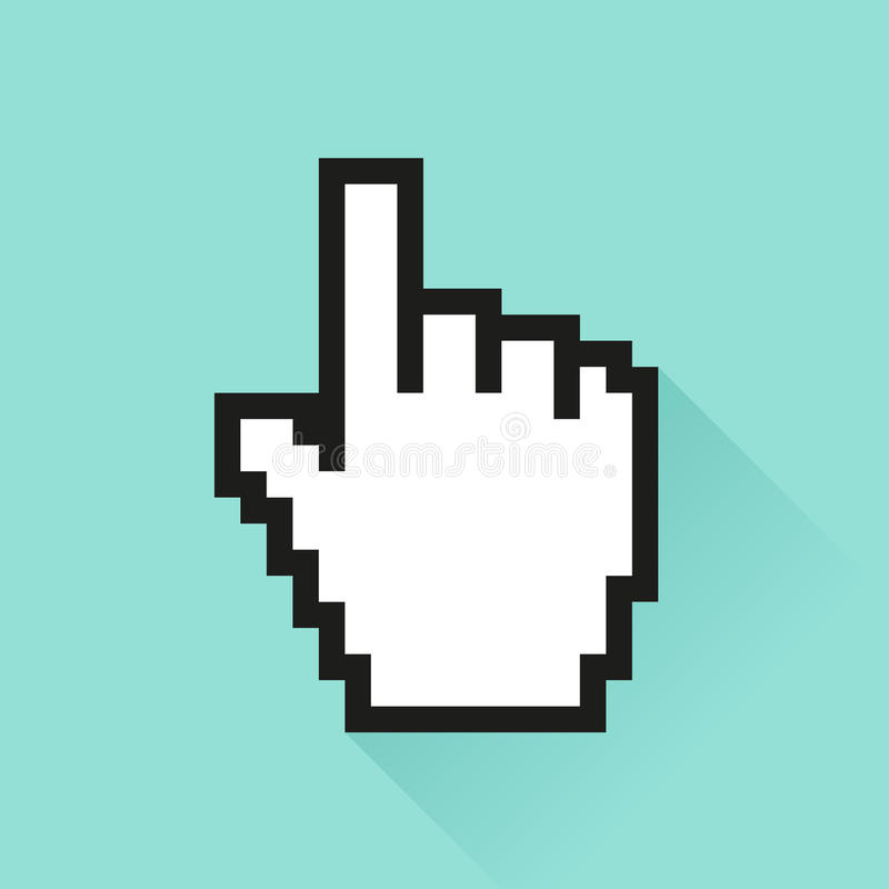 Grupo de ícone social dos meios Mão do ursor do ¡ de Ð ilustração stock