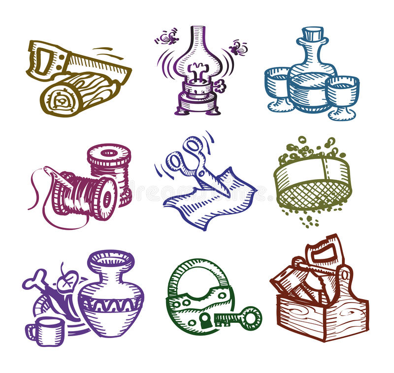 Grupo de ícones. ilustração stock