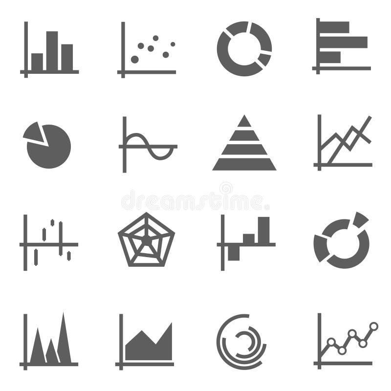 Grupo de ícones da carta imagem de stock
